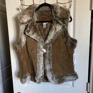 Live a Little Faux Fur Lined Vest
